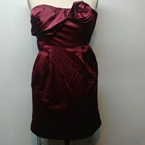 CR Signatures plum strapless cocktail dress S